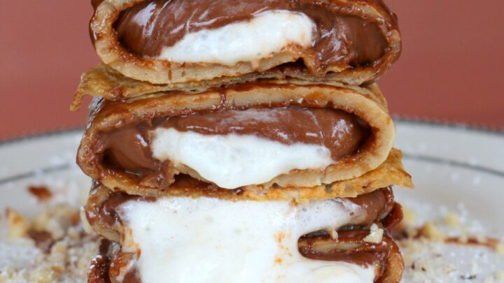 How To Make Coffee Crepes Nutella Filling 5 Star Cookies